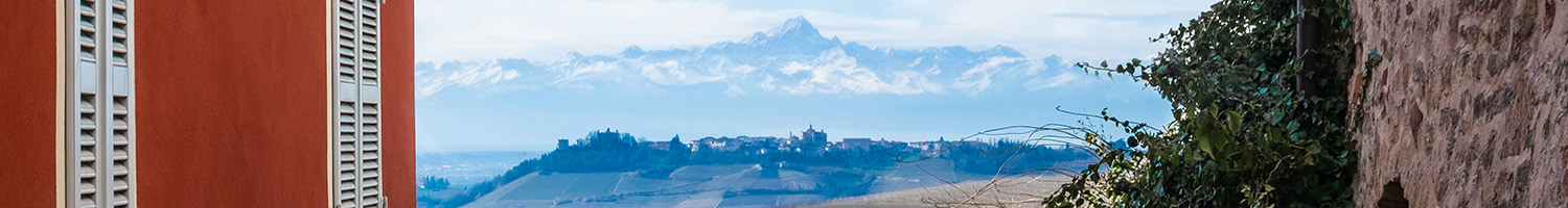 The town of La Morra from Morforte d'Alba