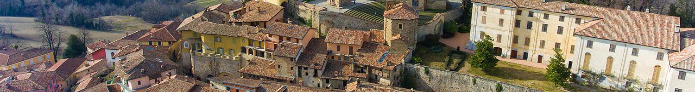 Centre of Monforte d'Alba, Langhe, Piedmont Italy