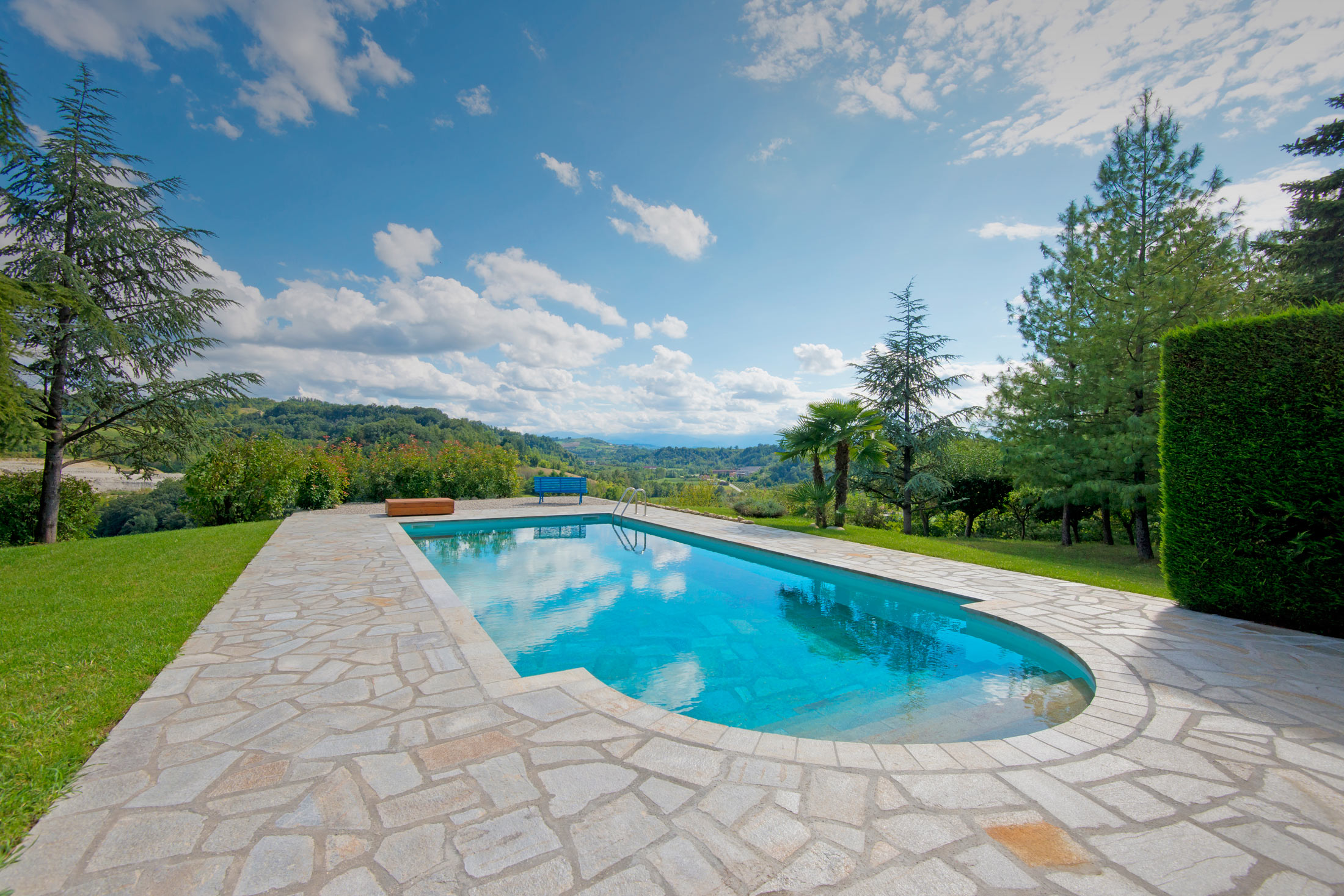 Swimming pool in a  luxury villa in Piedmont (Piemonte) Italy