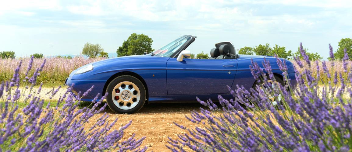 Blue Fiat Barchetta
