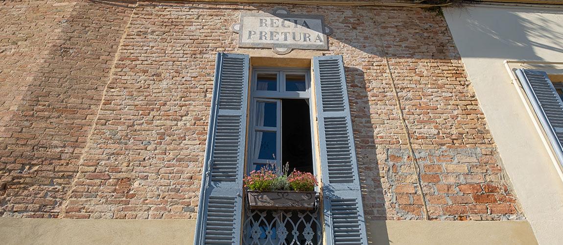 The town of Montemagno, Monferrato