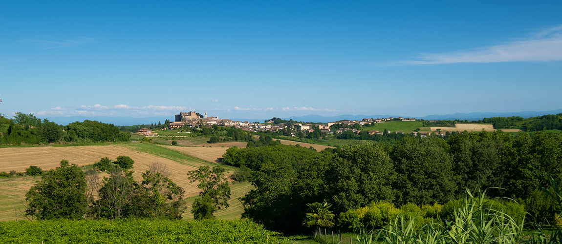 A view of Montemagno in the Monferrato, Piedmont, Italy